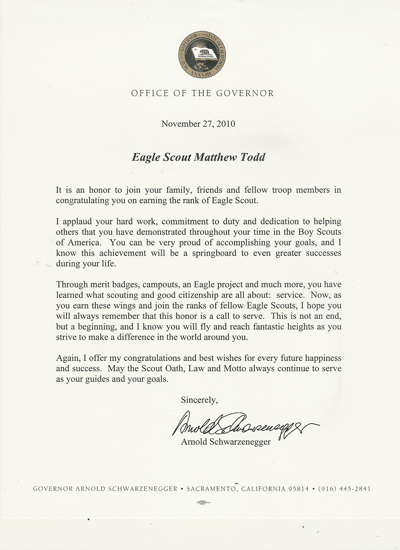 Information playground matthews eagle application and commendations a letter from arnold schwarzenegger altavistaventures Images