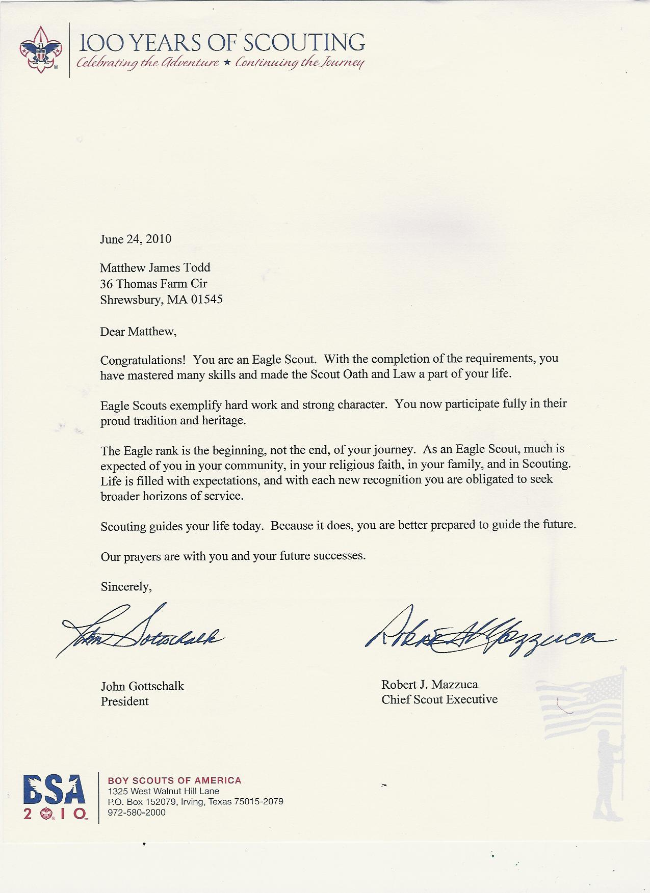 Sample Reference Letter For Boy Scout - Cover Letter Templates
